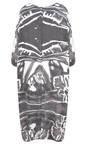 Grizas White/grey Vasara Printed Jersey Oversized Tunic