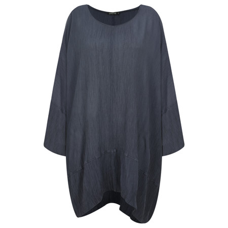 Grizas Vilte Plain Crinkle Tunic - Black
