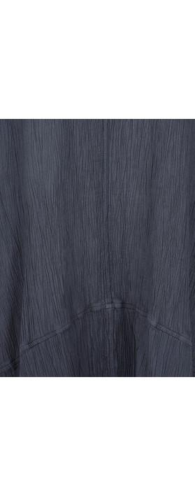 Grizas Vilte Plain Crinkle Tunic Charcoal