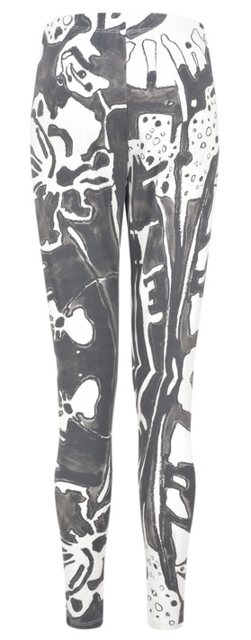 Grizas Elina Printed Jersey Leggings White/grey