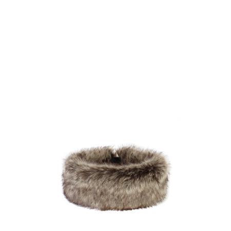 Helen Moore Faux Fur Huff - Brown