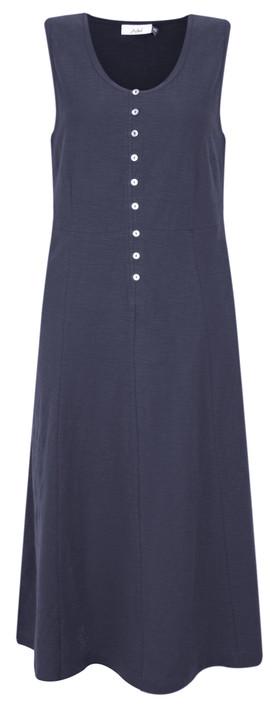 Adini Cotton Slub Emmie Dress Navy
