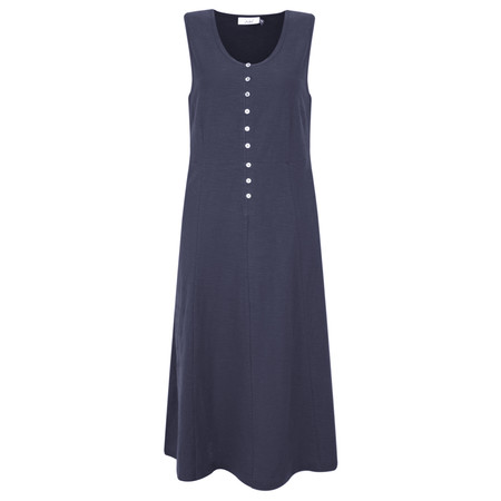 Adini Cotton Slub Emmie Dress - Blue