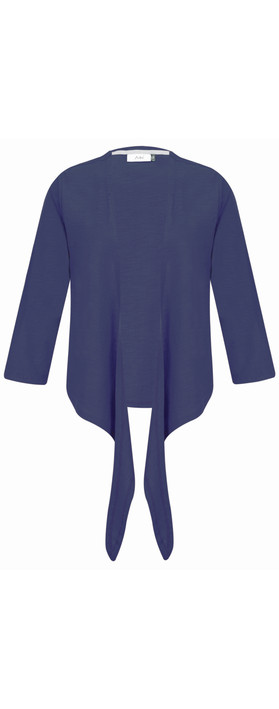 Adini Cotton Slub Sylvia Wrap Top Navy