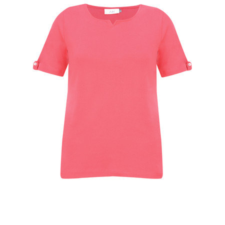 Adini Cotton Rib Julia Top - Pink