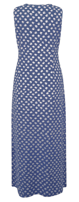 Adini Ooty Print Shelly Maxi Dress Navy