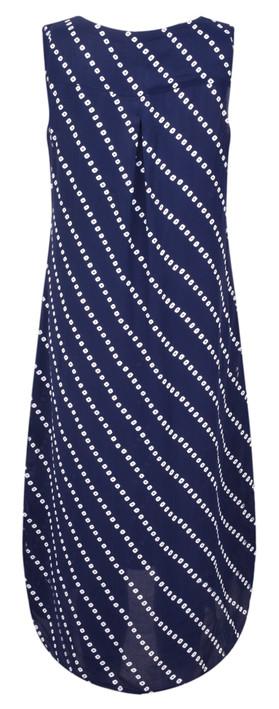 Adini Bandhini Print Bandhini Dress Royal Blue