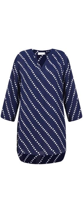 Adini Bandhini Print Elisa Tunic Royal Blue