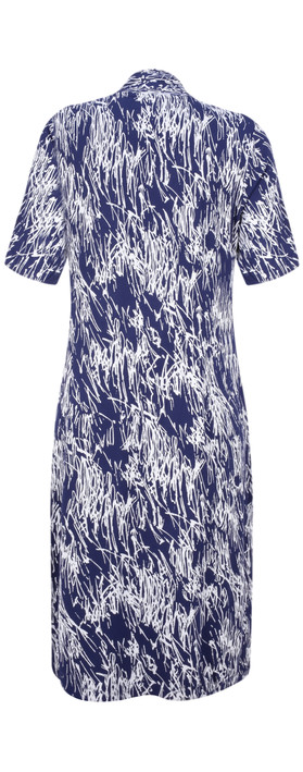 Adini Petula Print Courtney Dress Navy