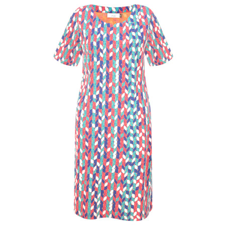 Adini Seville Print Seville Dress - Orange