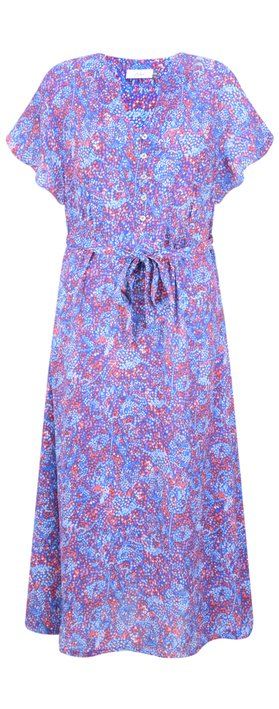 Adini Cora Print Cora Dress Lapis Blue