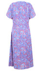 Adini Lapis Blue Cora Print Cora Dress