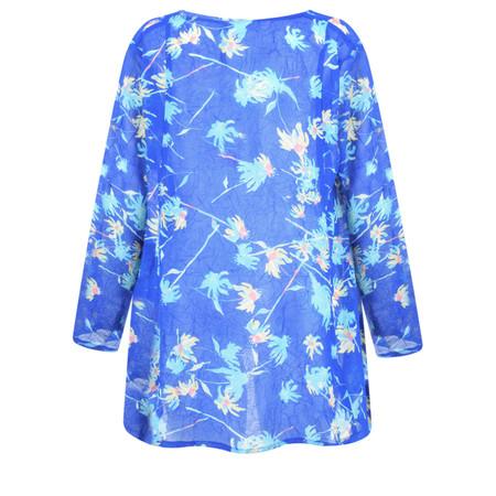 Adini Camilla Print Laurie Kimono - Blue