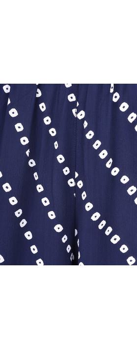 Adini Bandhini Print Emily Trouser Royal Blue