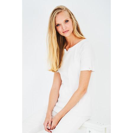 Adini Cotton Rib Julia Top - White