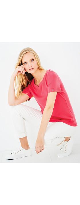 Adini Cotton Rib Julia Top Raspberry