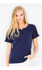 Adini Navy Cotton Rib Julia Top