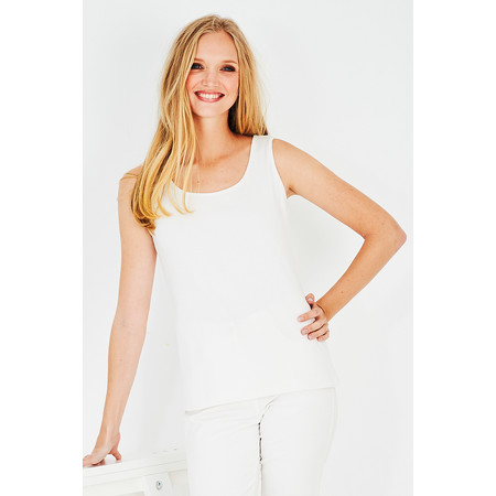 Adini Cotton Slub Erica Top - White
