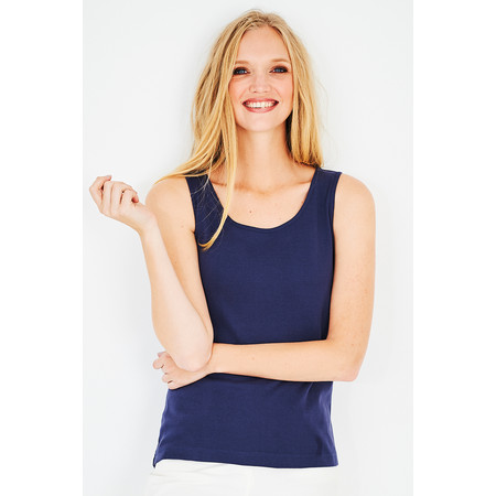 Adini Cotton Slub Erica Top - Blue