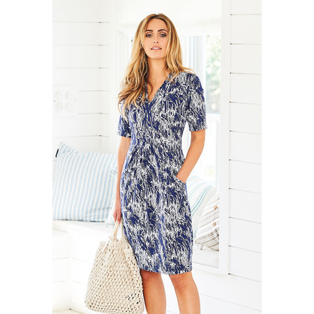 Adini Petula Print Courtney Dress - Blue