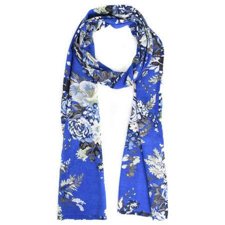 Masai Clothing Along Floral Print Scarf - Blue