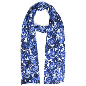 Masai Clothing Along Floral Scarf