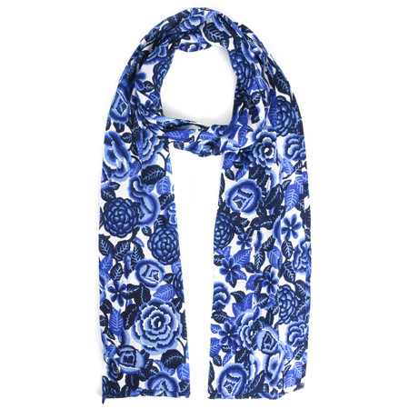 Masai Clothing Along Floral Scarf - Blue