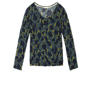 Sandwich Clothing Fine Net Leopard Top