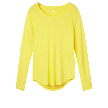 Sandwich Clothing Linen Mix Long Sleeve Top - Yellow