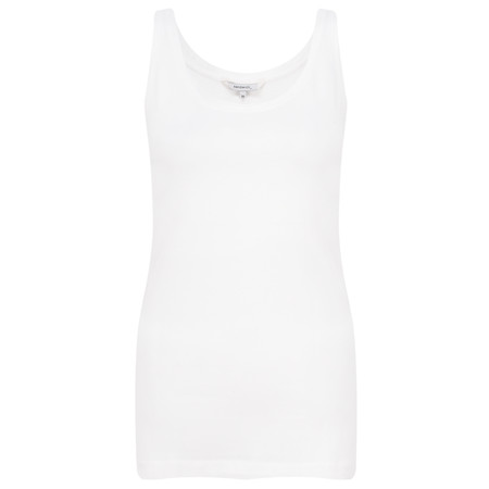 Sandwich Clothing Organic Cotton Vest Top - White