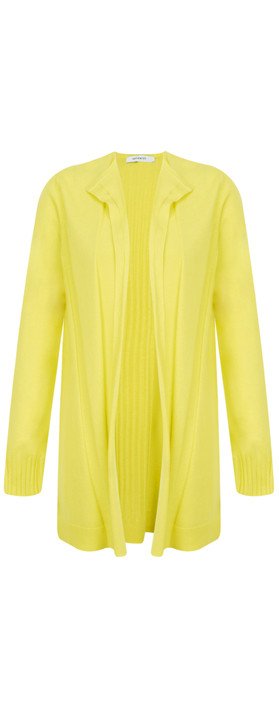 Sandwich Clothing Long Open Thin Knit Cardigan Warm Yellow