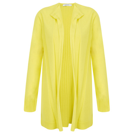 Sandwich Clothing Long Open Thin Knit Cardigan - Yellow