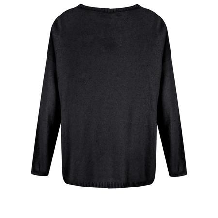 Luella Sequin Star Cashmere Blend Jumper - Black