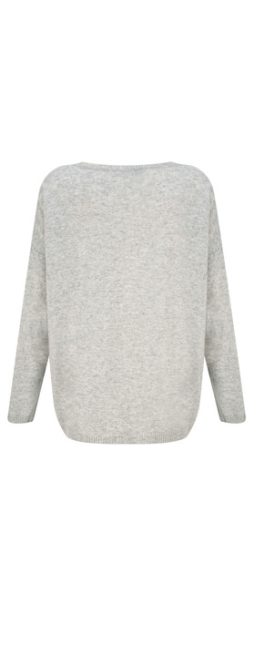Luella Cashmere Blend Star Jumper Silver/Yellow