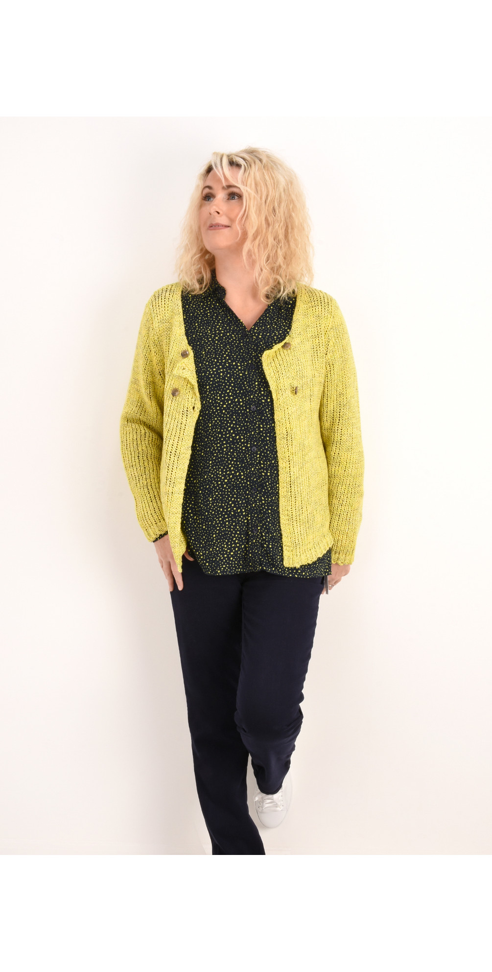 Two Colour Knit Cardigan main image