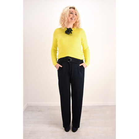 Sandwich Clothing Bow Neck Jumper - Yellow