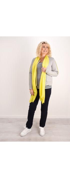 Sandwich Clothing Crinkle Dye Scarf Warm Yellow