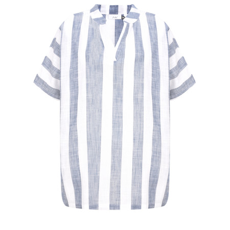 Adini Quay Stripe Pier Top - Blue