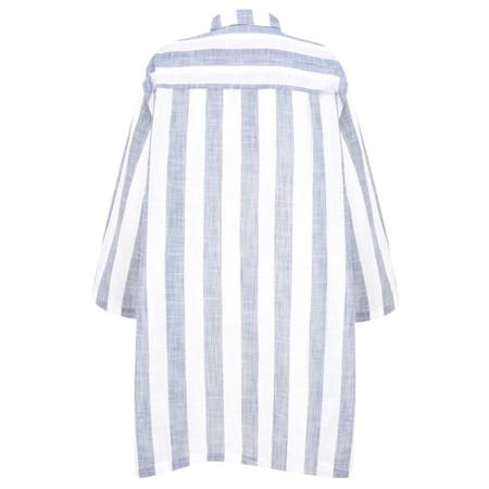 Adini Quay Stripe Quay Big Shirt - Blue