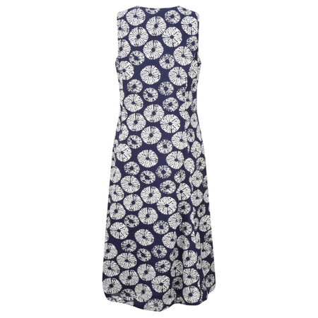 Adini Samoa Print Sail Dress - Blue