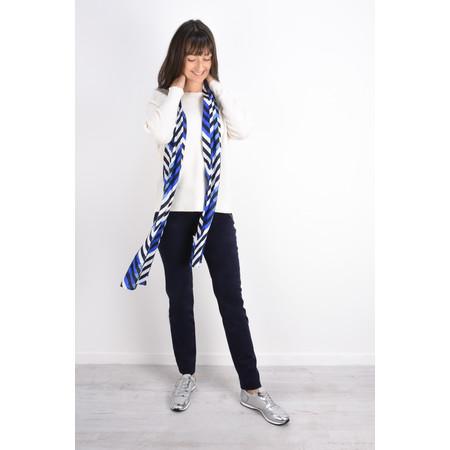 Robell Trousers Nena Faux Moleskin Full Length Trouser - Blue