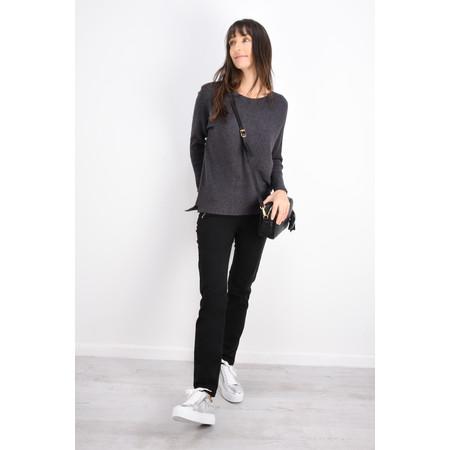 Robell Trousers Nena Faux Moleskin Full Length Trouser - Black