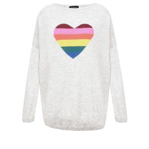 Luella Rainbow Heart Cashmere Blend Jumper