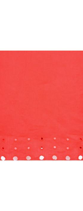 Foil Circle Embroidered Linen Dress Watermelon