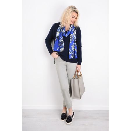 Masai Clothing Along Floral Print Scarf - Blue