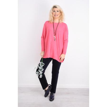Fenella  Allie Oversized Soft Knit Jumper - Pink