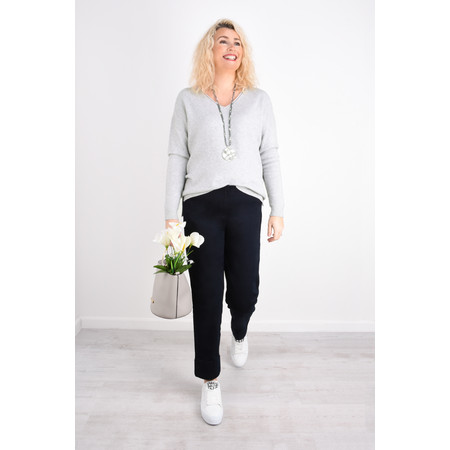 Fenella  Emmie EasyFit V-neck Knit Jumper - Grey