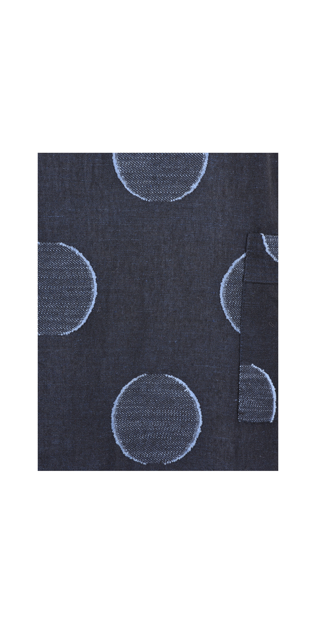 Bold Circle Print Linen Dress main image