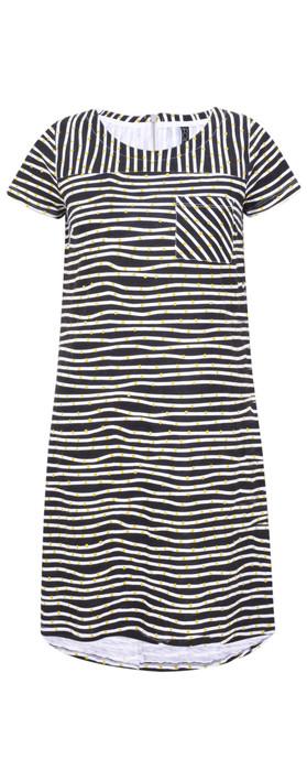 Foil Shore Club Slub Cotton Dress Worms Ink