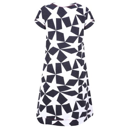 Foil Geometric Diamond Print Dress - Blue